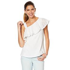 Motto Effortless Eyelet Asymmetric Top