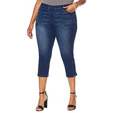 Motto Modern Stretch Denim Pull-On Cropped Jean