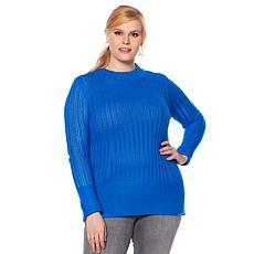 Motto Pointelle Knit Turtleneck Sweater