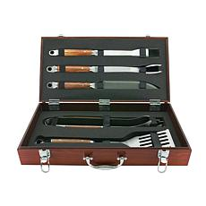 Mr. Bar-B-Q Forged 5-piece Tool Set with Wood Case