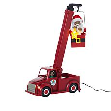 Mr. Christmas Animated Cherry-Picker Telescoping Santa w/6-Hour Timer