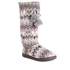 MUK LUKS Gloria Knit Tall Slipper Boot