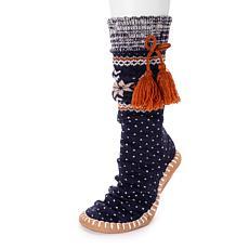 MUK LUKS Tassel Slipper Socks
