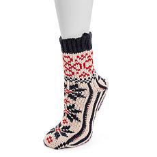 MUK LUKS® Women's Knit Slipper Socks