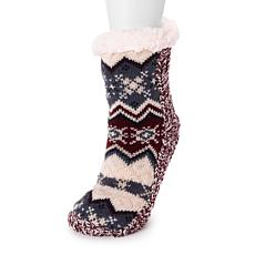 MUK LUKS Women's Pieced Cabin Socks