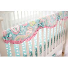 My Baby Sam Pixie Baby in Aqua Crib Rail Cover