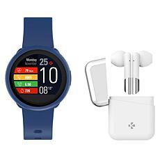 MyKronoz ZeRound3 Lite Smartwatch with Wireless ZeBuds