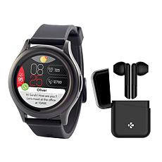 MyKronoz ZeRound3 Smartwatch HR with Wireless ZeBuds