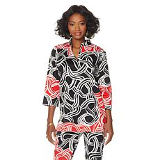 N Natori Twisted Medallion Printed Tunic