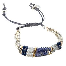 Nakamol 3-Row Beaded Adjustable Bracelet