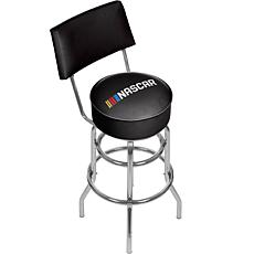 NASCARR Padded Swivel Bar Stool with Back