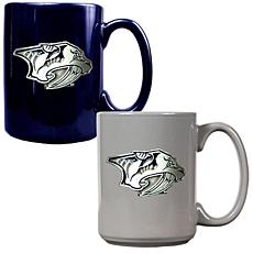 Nashville Predators 2pc Coffee Mug Set