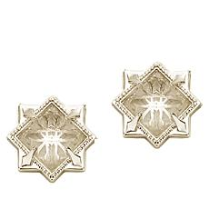 "Natalie Wood Designs ""Runaway Romantic"" Pyramid Stud Earrings"