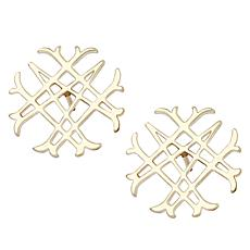 Natalie Wood Designs Signature Logo Emblem Earrings