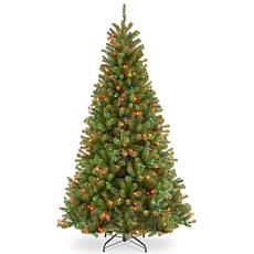 National Tree 6.5' North Valley Spruce Tree with 450 Multicolor Lights