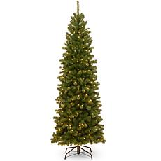 National Tree 7.5' NorthValley® Spruce Pencil Hinged Tree w 400 Lights