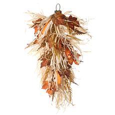 "National Tree Company 30"" Harvest Raffia Teardrop with Maple Leaves"