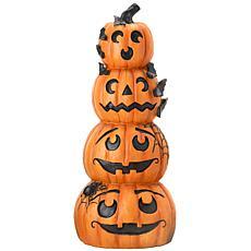 "National Tree Company 39"" Poly-resin Stacked Jack-O-Lanterns"