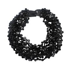 Natural Beauties Coconut Shell Bead Cluster 12-Strand Necklace