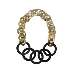 Natural Beauties Watusi Horn and Ebony Link Necklace