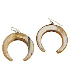 Natural Beauties Watusi Horn Crescent Dangle Drop Earrings