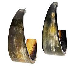 Natural Beauties Watusi Horn Tapered Hoop Earrings