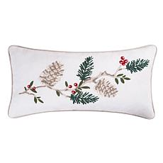 Natural Pines Chain Stitch Pillow