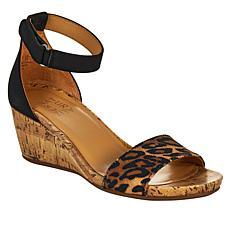 Naturalizer Areda Leather Wedge Sandal