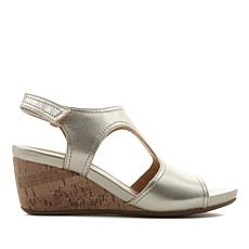 Naturalizer Cinda Leather Wedge Sandal