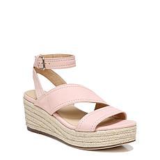 Naturalizer Ursa Leather Ankle Strap Platform Wedge Sandal