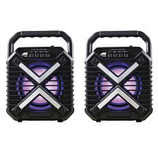 Naxa Dual Bluetooth Dual Wireless Sync Speakers Combo