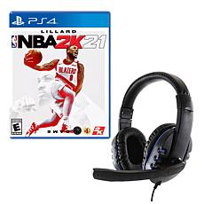 NBA 2K21 Game for PlayStation with Universal Headset