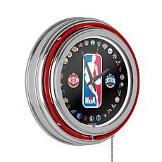 NBA Logo Double Ring Neon Clock