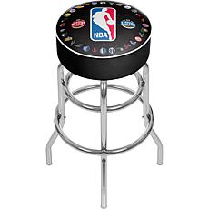 NBA Logo with All Teams Padded Swivel Bar Stool