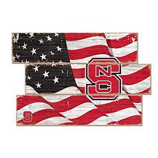NC State University Flag 3 Plank