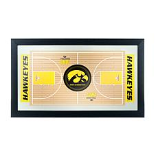 NCAA Basketball Court Mirror - University of Iowa