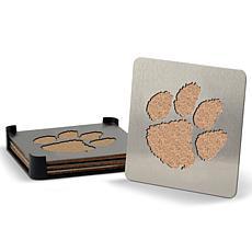 NCAA Boasters 4-piece Coaster Set - Clemson Tigers