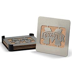 NCAA Boasters 4-Piece Coaster Set - Mississippi State Bulldogs