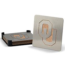 NCAA Boasters 4-piece Coaster Set - Oklahoma Sooners