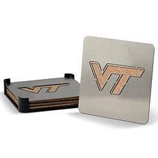 NCAA Boasters 4-piece Coaster Set - Virginia Tech Hokies
