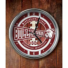 NCAA Chrome Clock - Mississippi State