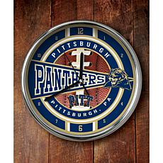 NCAA Chrome Clock - Pittsburgh