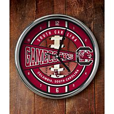 NCAA Chrome Clock - South Carolina