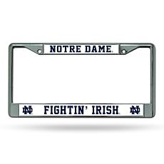 NCAA Chrome License Plate Frame - Notre Dame