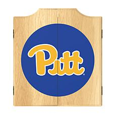NCAA Dart Cabinet w/ Darts & Board - Univ of Pittsburgh