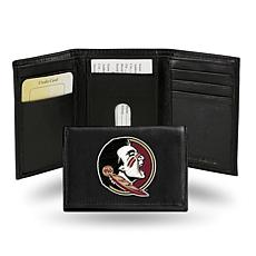 NCAA Embroidered Leather Trifold Wallet - Florida State