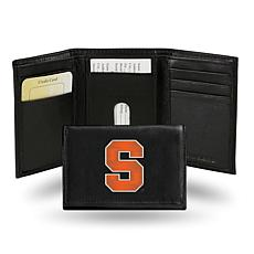 NCAA Embroidered Leather Trifold Wallet - Syracuse