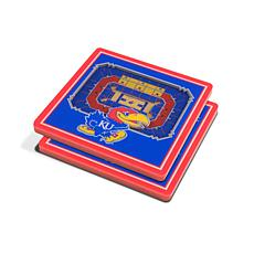 NCAA Kansas Jayhawks 3-D Stadium Views Coaster Set