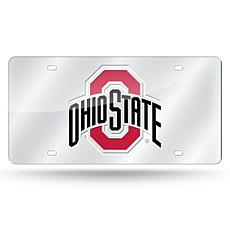 NCAA Laser Tag Silver License Plate - Ohio State