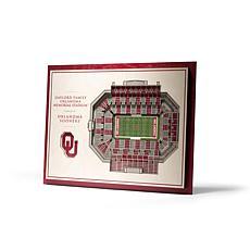 NCAA OK Sooners StadiumViews 3D Wall Art- Gaylord OK Memorial Stadium